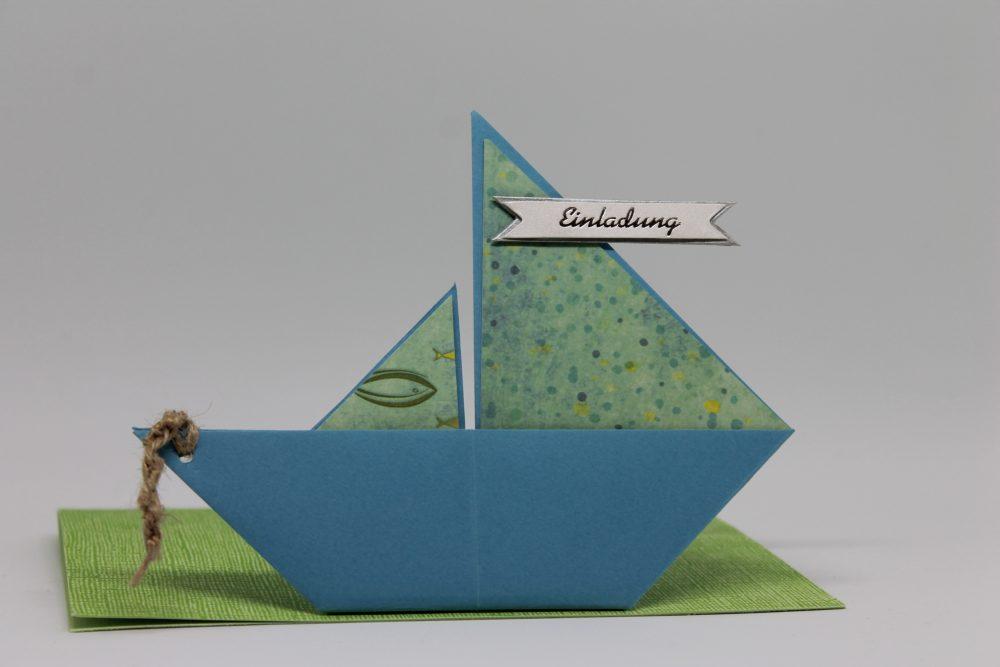 """Einladungskarte """"Boot"""""""
