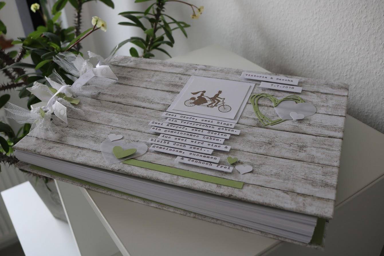 Hochzeitsalbum A4 in Holzoptik