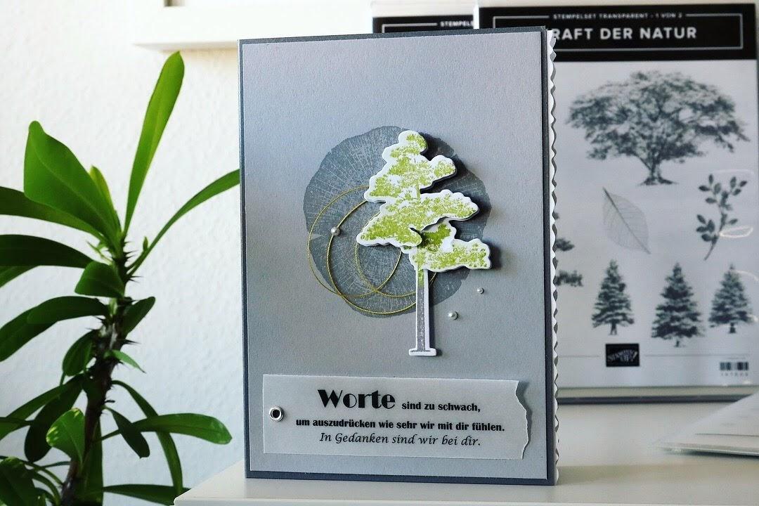 """Trauerkarte """"Kraft der Natur"""""""